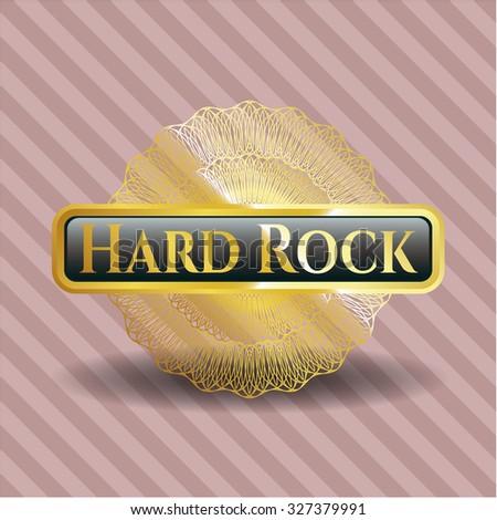 Hard Rock gold badge or emblem