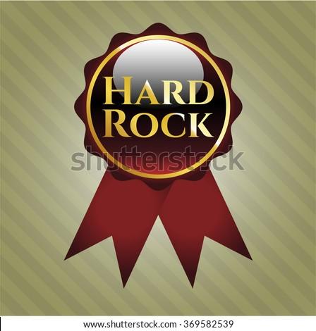 Hard Rock golden emblem