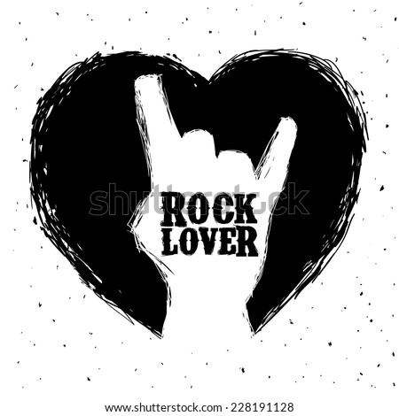 hard rock graphic design