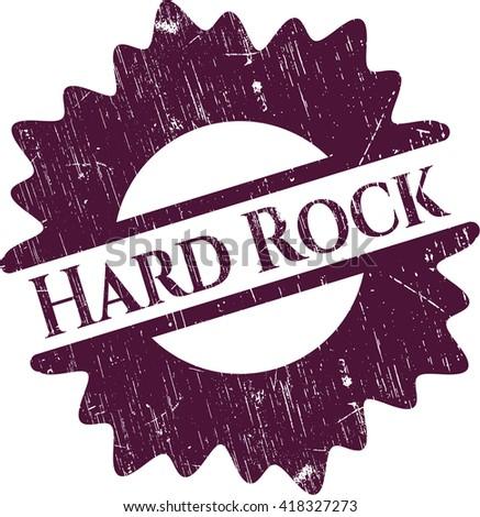Hard Rock grunge stamp