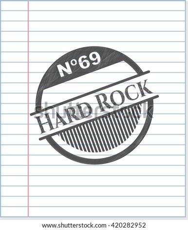 Hard Rock pencil strokes emblem