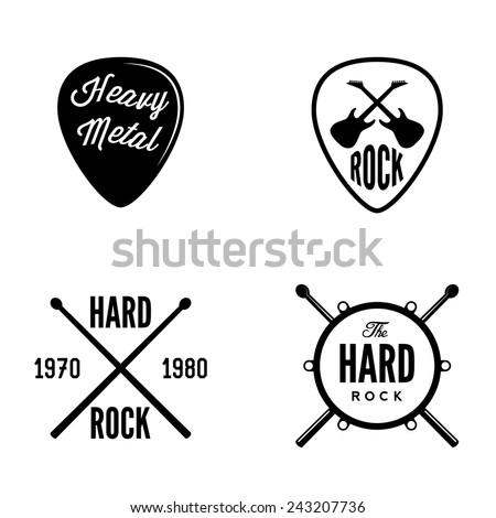 hard rock retro emblem
