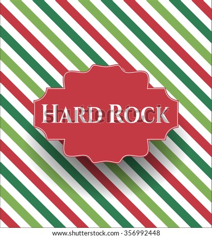 Hard Rock retro style card or poster