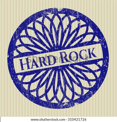 Hard Rock rubber grunge stamp