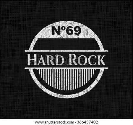 Hard Rock written on a chalkboard