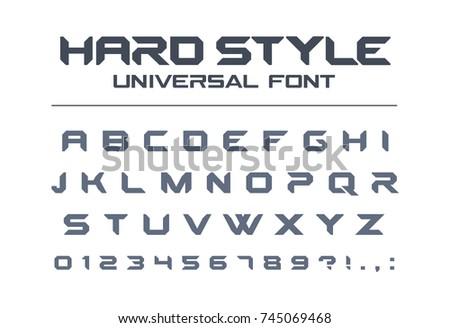 hard style universal font