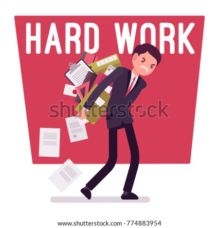 hard work man young clerk