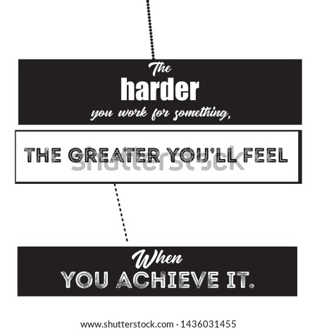 Harder Typography & Motivational Quote T-shirt and apparels print graphic - Vector