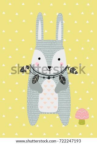 hare in scandinavian style