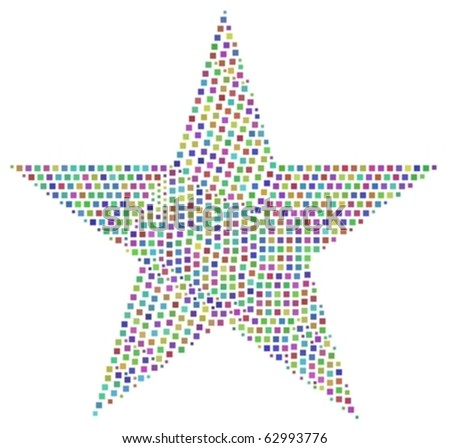 Harlequin mosaic of a star