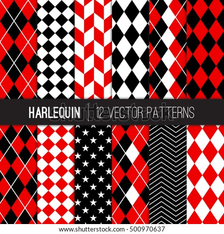 harlequin vector patterns in
