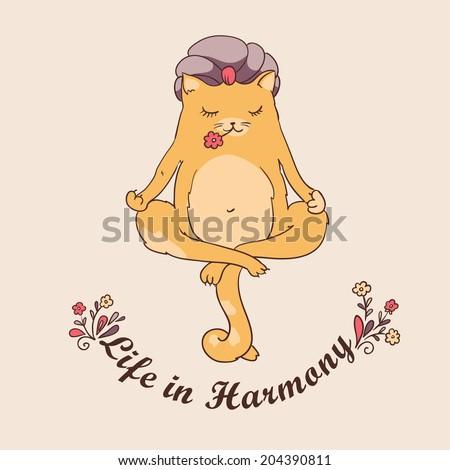 harmonious  yogi   meditating