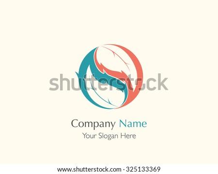 harmony leaf symbol yin yang