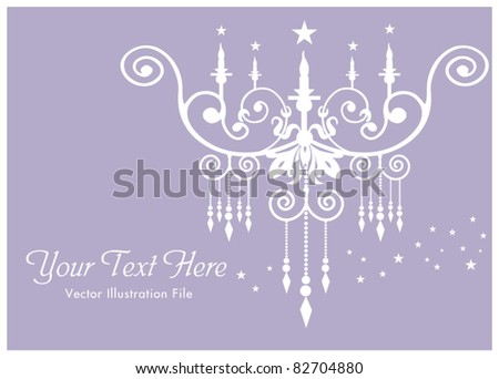 Harmony luxury lamp template - stock vector