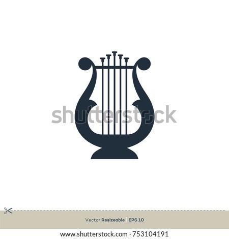 Harp Icon Vector Logo Template Illustration Design. Vector EPS 10. Stock photo ©