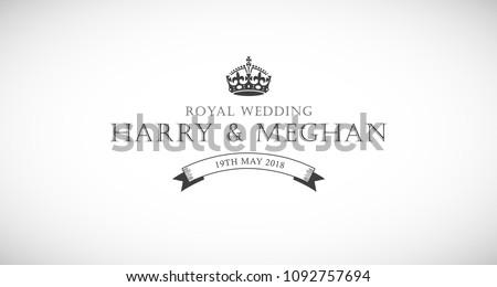 Harry and Meghan royal wedding card.