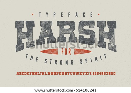 harsh font crafted retro