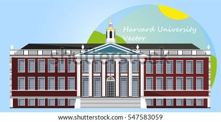 Harvard University. Vector Illustration. Flat design.