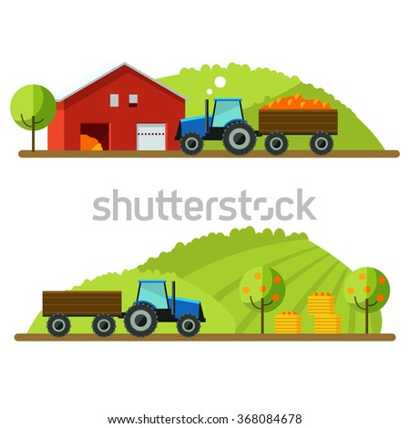 harvest on farm tractor rides