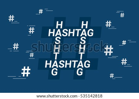 hashtag concept symbol with