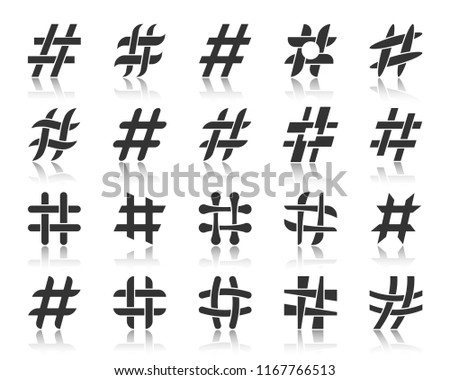 Hash Symbol Logo Concept Design Download Free Vector Art Stock