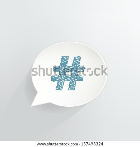 Hashtag Speech Bubble Icon