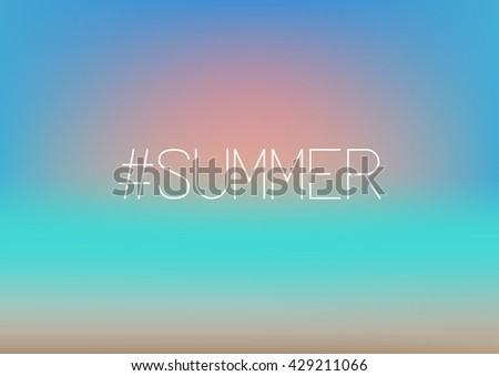 hashtag summer sunset on