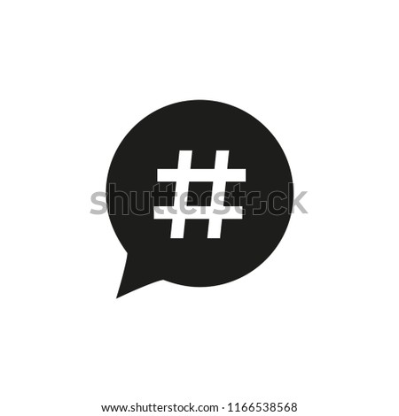 hashtag vector icon in trendy flat design