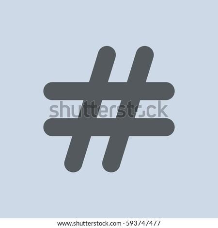 Hashtags Icon Vector flat design style
