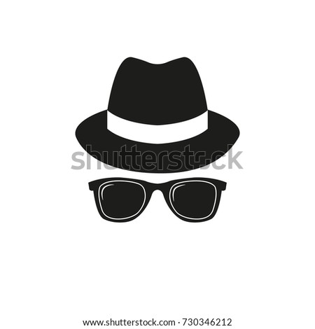 hat and sunglasses vector