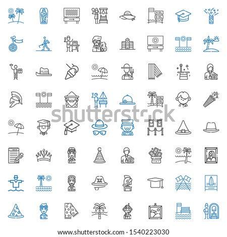 hat icons set collection of