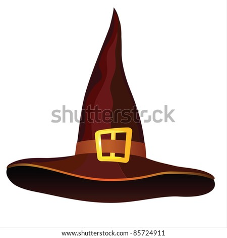 Hat on a white background for the holiday Halloween