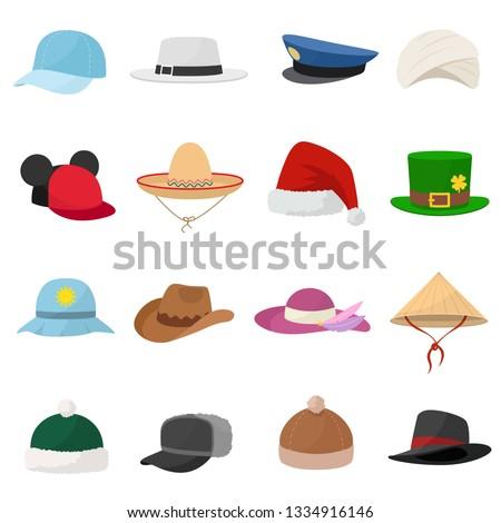 hat set various hats