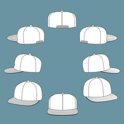 hat side template mockup design