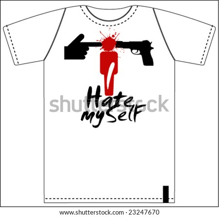 hate you t shirt print design