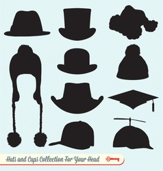 Hats and Caps Silhouette Collection