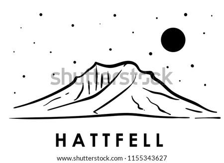 hattfell  iceland vector