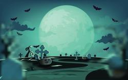 Haunted house halloween background ,Vector illustration