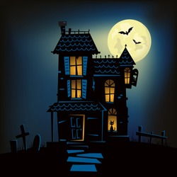 Haunted House on top of a Hill