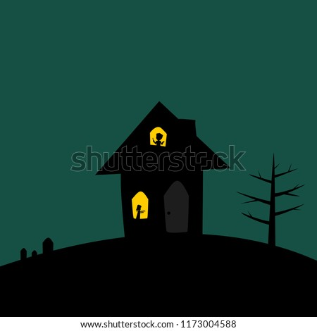haunted houses with lighting