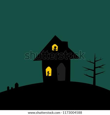 haunted houses with lighting