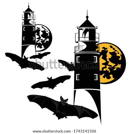 haunted lighthouse and flying
