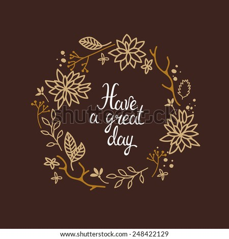 have a great day illustration