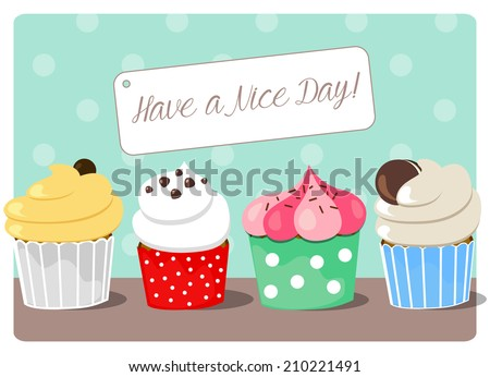 cartoon decorations free have a nice day vector card download free vector art stock