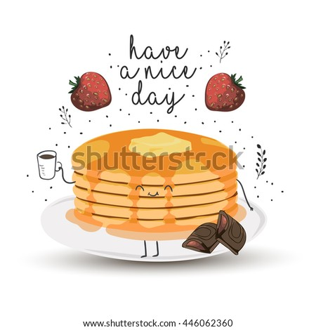 have a nice day   cute vector