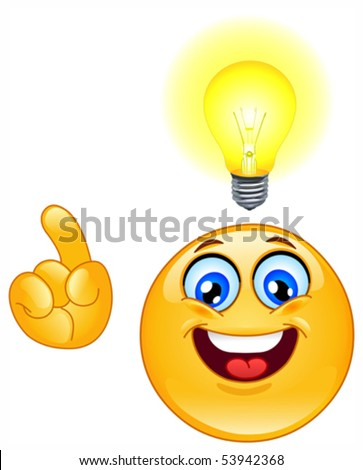 stock vector : Have an idea emoticon