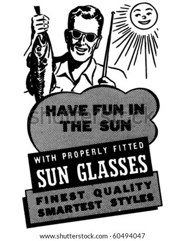 Have Fun In The Sun - Ad Layout - Retro Clip Art