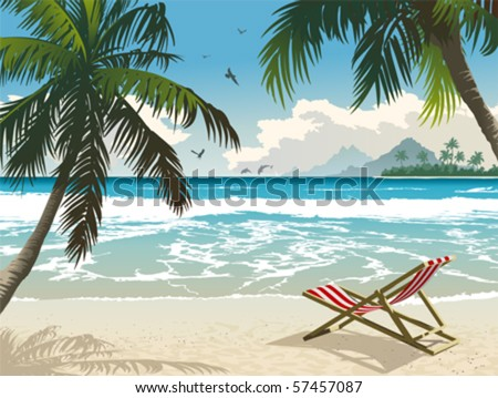 hawaii beach vector