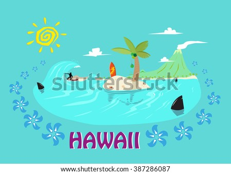 hawaii islands and surfing