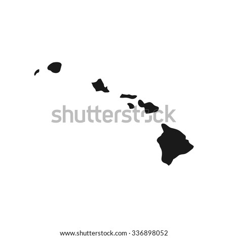 hawaii map for logo and other